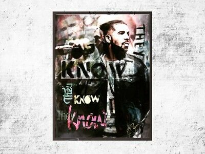 Drake Kunst Hip Hop Pop Art Urban Style - Street They know - signiert St. Bam