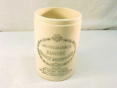 Wonderful Vintage James Keiller & Son Dundee Orange Marmalade Jar England