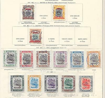 Brunei stamps Collection of 14 CLASSIC stamps HIGH VALUE!
