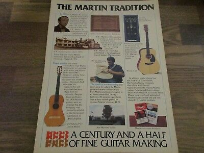 C.F. Martin Guitars - 1833 Tradition Acoustic History 1983 Print Ad