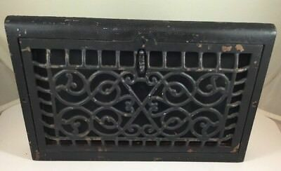 Antique Cast Iron  Dome Heat Grate Vintage Heat Vent Wall Register