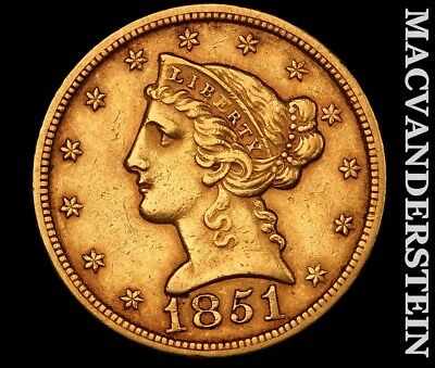 1851 $2.50 Gold Quarter Eagle-Almost Uncirculated!! Luster!! No Reserve!! #y7667