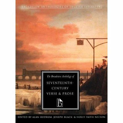 The Broadview Anthology of Seventeenth Century Verse an - Paperback NEW Rudrum,