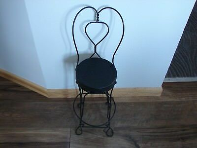 vintage soda fountain  metal stool/chair miniature 23 inches to top