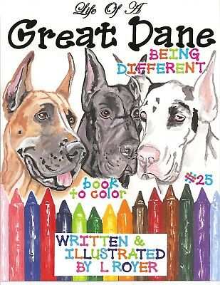 Great Dane Dog Coloring Book Creator Artist L Royer  Autographed By L Royer #25