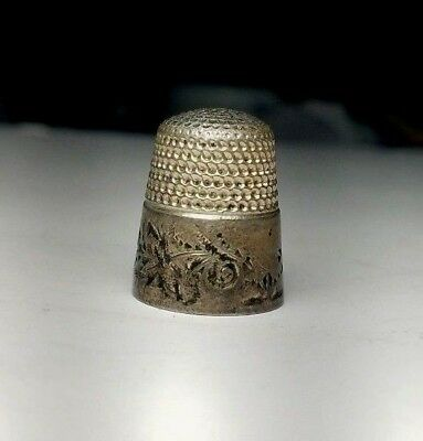 Antique Sterling Silver Thimble by Waite, Thresher Co. Size 8-Free USA Ship