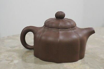 "Wonderful Small Chinese Hand Made Pottery Teapot ""Marked"""