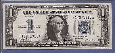 1934 $1 Silver Certificate,Funny Back note,Large Blue Seal,CH Crisp VF,Nice!