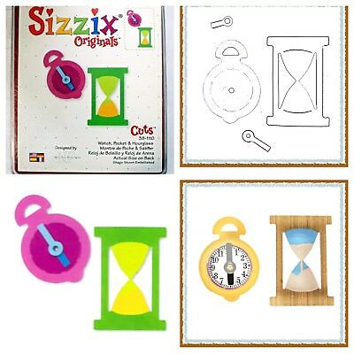 Sizzix Die Watch Pocket Clock Hourglass Scrapbook Diecut Retired Steampunk NEW