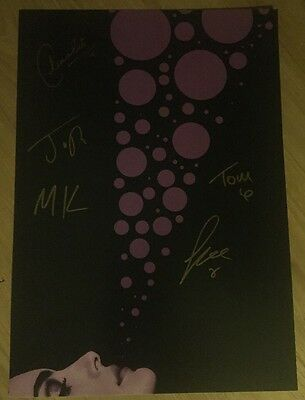 Blossoms - Rare Signed Promo Card/Poster, At Most A Kiss