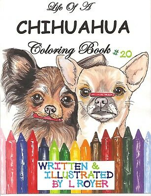 Chihuahua Dog Coloring Book Creator Artist L Royer  Autographed By L Royer #20