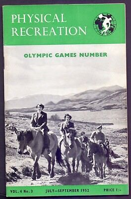 54 page Physical Recreation Olympic Games Number July-Sept 1952  (YT1)