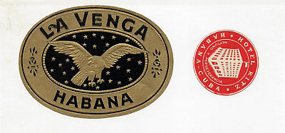 Hotel  Havana Habana Advertising Luggage Label Poster stamp Lot Collection