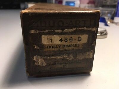 Duo Art  Piano  Roll Dolly Dimples