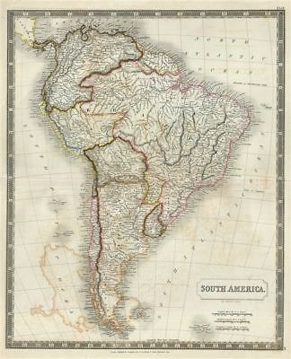 1835 Hall Map of South America