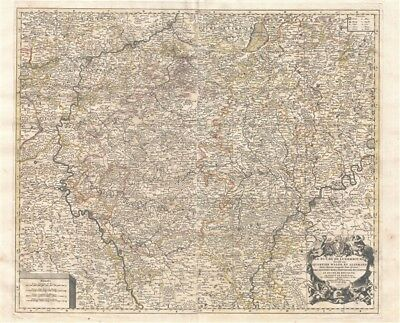 1692 Jaillot Map of Luxembourg