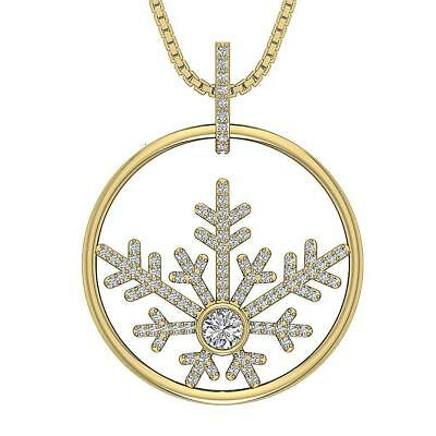 Natural Diamond Fashion Circle Pendant Necklace 0.65Ct 14K Yellow Gold Appraisal
