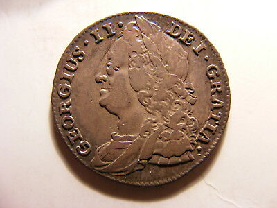 Great Britain 1743 Silver 6 Pence, Gerorge II, VF, KM#582.1