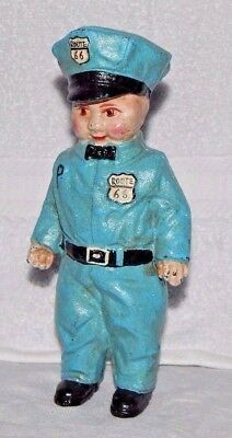 ROUTE 66 SERVICE MAN BOY Uniform CAST IRON BANK Buddy Lee Doll D.H. LEE Co 1949