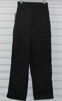 New! Nwt Chef Cargo Pants Black Draw String Baggy Uniform Solid Unisex