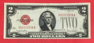 1928G $2 RED US Deuce Choice VF X938 Old US Paper Money Currency