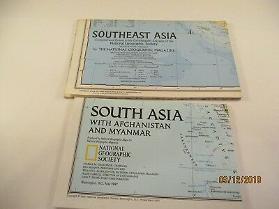 National Geographic Society South Asia and Southeast Asia Maps #8