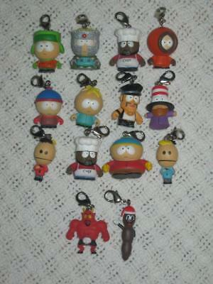 Lot 12+2 South Park Keychain Key Ring Charm Figures