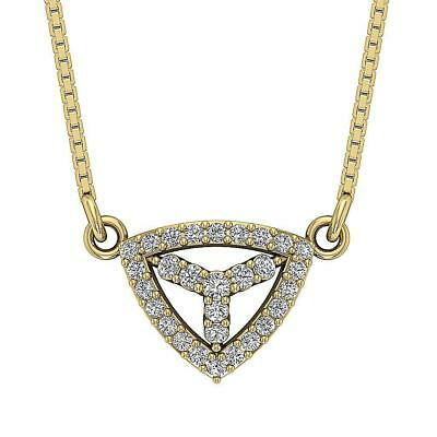 Round Diamond Fashion Pendant Necklace SI1 H 0.35Ct 14Kt Yellow Gold Appraisal