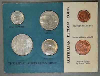 Australia 1966 Mint Set with Silver 50 Cents on Card