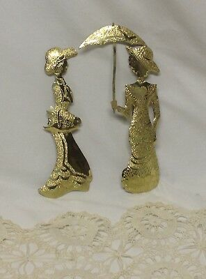 Home Interior Homco Beautiful(Set of Two) Victorian Gold Ladies Plaques