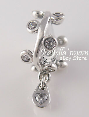0180dfe22 CHANDELIER DROPLETS Authentic PANDORA 2018 SPRING Silver DANGLE Spacer  797106CZ