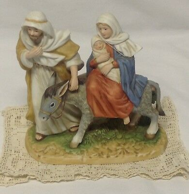 """Home Interior Homco""""Fleeing Bethlehem""""Figurine""""The Greatest Stories Ever Told"""""""