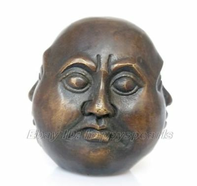 Details about antique excellent old bronze carved statue 4 face Mood Buddha 8cm