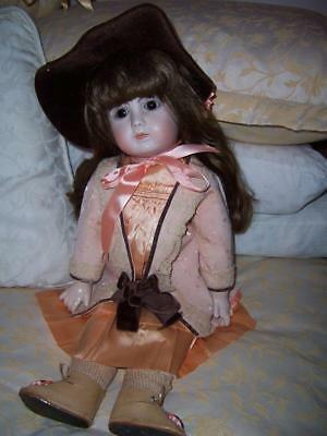 Antique French A18 Steiner Reproducton Doll Outfit Hat Porcelain Composition