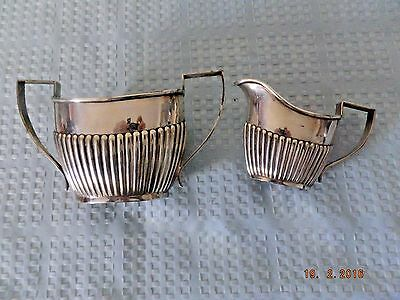 A & J Zimmerman Vintage Silverplate Cream and Sugar Set