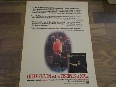 Little Steven And The Disciples Of Soul - Van Zandt  1983 Print Ad