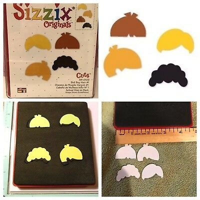 Sizzix Die Cutting Paper Doll Boy Hair Set #1 Dressups DieCut Body Short Haircut