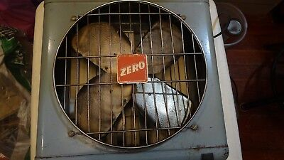 MCGRAW EDISON COMPANY Zero METAL BOX FAN  #4012 3 SPEED WORKING!! FREE SHIPPING