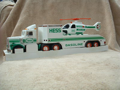 Hess Toy Truck & Helicopter 1995 Battery Operated Lights & Helicopter Rotors