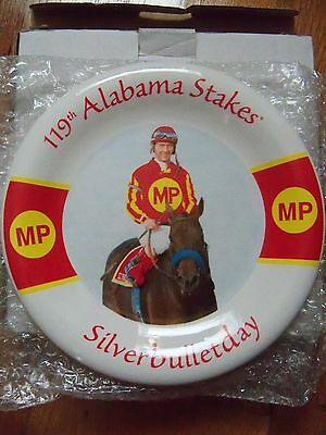 Saratoga Alabama Stakes Silverbulletday horse racing collectors plate J Bailey