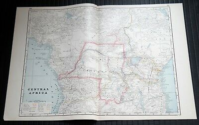 Crams Railway System Atlas Map Central Africa Egypt Nubia Abyssinia Turkey 1895