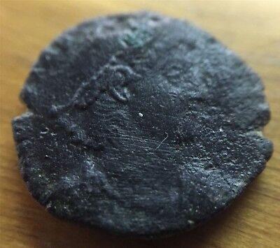 ANTIQUE ROMAN COIN #2 APPROX 19mm AGE UNKNOWN