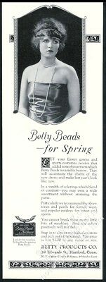 1923 flapper girl woman photo Betty Beads bead costume jewelry necklace print ad