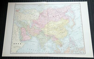 Crams Railway System Atlas Map Asia Russia and Turkey in Europe 1895