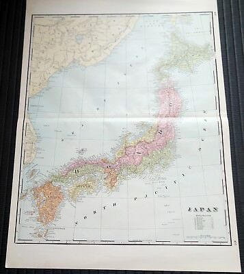 Crams Railway System Atlas Map Japan Persia China 1895