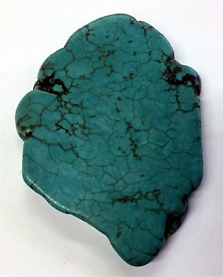 258 CT 51 GRAM NATURAL SLABED TURQUOISE 74mm x 53mm x 6mm DRILLED