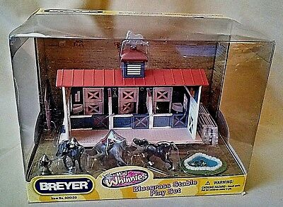 Breyer Bluegrass Stable Playset Mini Whinnies New 300120 3 Horses 2009 Play Mat.