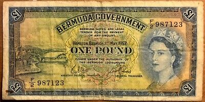 BERMUDA - Queen Elizabeth II - One Pound - 1957 - Very Fine Details