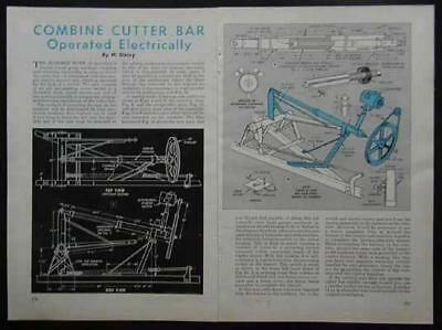 Combine Cutter Bar Electric Control Unit How-To build PLANS
