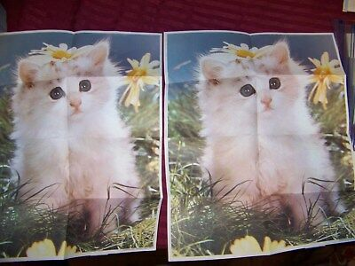 1970s Vintage CEREAL PREMIUMS  Cats and Dog poster lot of 4